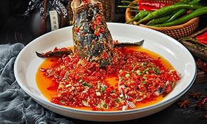 剁椒鱼头美食菜品高清摄影图片