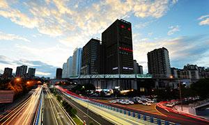 傍晚美丽的重庆风光高清摄影图片