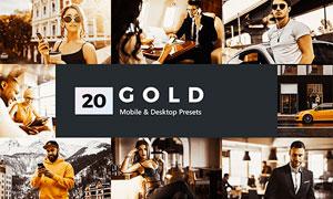 20款人像金色復古藝術效果LR預設