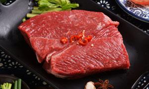 切好的新鮮牛肉高清攝影圖片