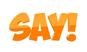橙色渐变样式的立体字模板分层素材