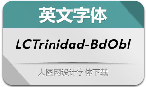 LCTrinidad-BoldOblique(英文字体)