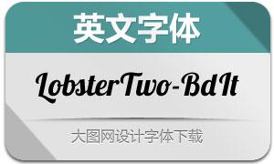 LobsterTwo-BoldItalic(英文字体)