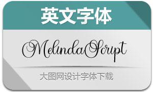 MelindaScript(英文字体)
