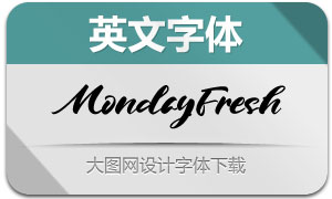 MondayFresh(英文字体)