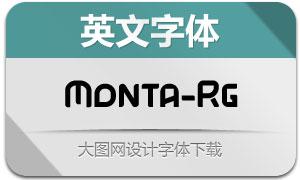 Monta-Regular(英文字体)