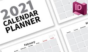 带记事提醒功能的日历模板矢量素材