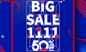 双11购物狂欢节活动宣传单PSD素材