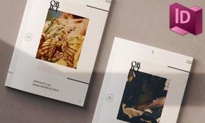 时尚杂志页面图文布局设计模板素材