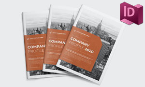 公司业务宣传画册页面布局模板素材