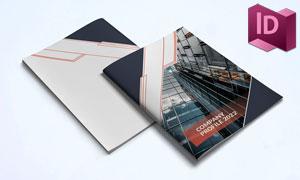 企业简介画册页面布局模板设计素材