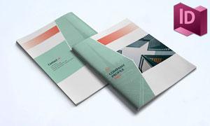大气简约企业画册页面排版模板素材
