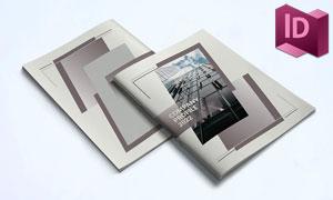 深色系配色的画册版式设计模板素材