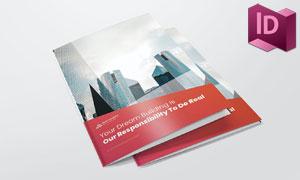 建筑公司介绍画册版式设计矢量素材