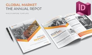 企业年度报告画册版式设计模板素材