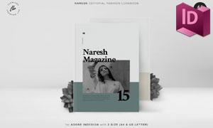 四十页双尺寸规格杂志版式模板素材