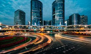 城市高楼大厦美丽夜景高清摄影图片