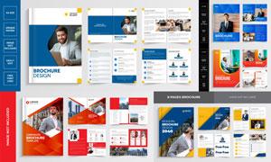 商务画册内页与封面等设计矢量素材