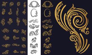 裝飾適用花紋圖案邊框創意矢量素材