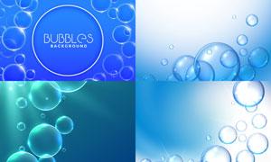 星光點綴透明質感泡泡元素矢量素材