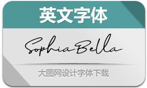 SophiaBella系列三款英文字体