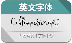 CalliopeScript(英文字体)