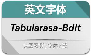 Tabularasa-BoldItalic(英文字体)