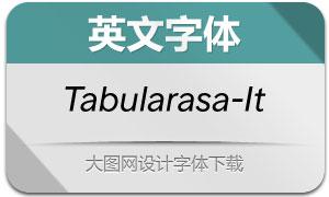 Tabularasa-Italic(英文字体)