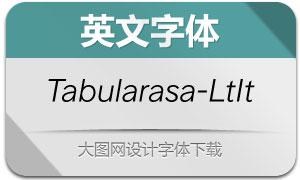 Tabularasa-LightItalic(英文字体)
