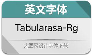 Tabularasa-Regular(英文字体)