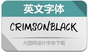 CrimsonBlack-Regular(英文字体)