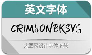 CrimsonBlack-SVG(英文字体)