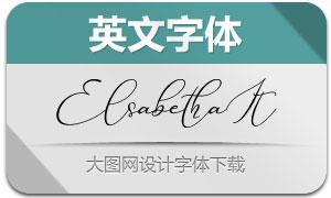 Elsabetha-Italic(英文字体)