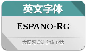 Espano-Regular(英文字体)