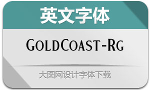 GoldCoast-Regular(英文字体)