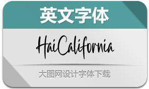 HaiCalifornia(英文字体)