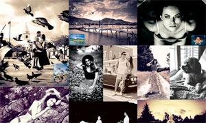 20款中文版质感黑白艺术效果PS动作