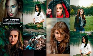 人物肖像质感HDR艺术效果PS动作