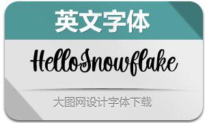HelloSnowflake(英文字体)