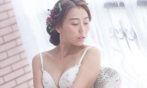 蕾丝内衣美女模特人物摄影原片素材