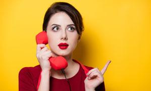 打电话的美女主妇人物摄影高清图片