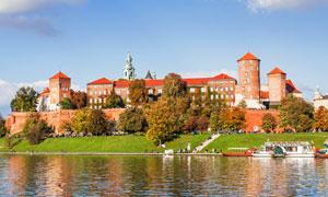 克拉科夫的瓦维尔皇家城堡风光图片