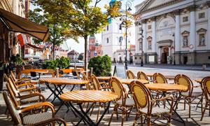 波兰首都华沙街景风光摄影高清图片