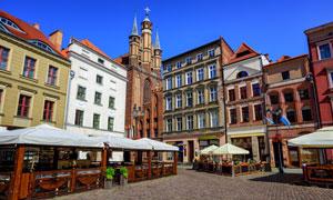 波兰托伦中心广场建筑风光摄影图片