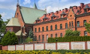 波兰克拉科夫修道院建筑物摄影图片