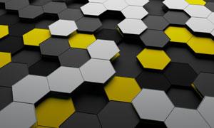 拼接效果的六边形立体创意高清图片