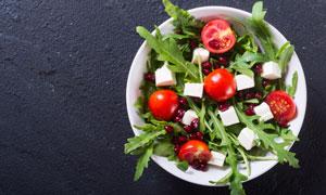 小番茄石榴减脂营养餐摄影高清图片
