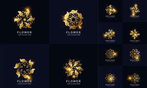 星光点缀花纹图案标志创意矢量素材
