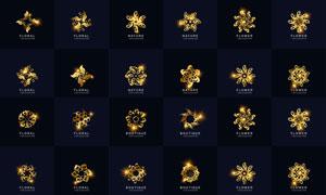 金色花纹图案元素标志创意矢量素材