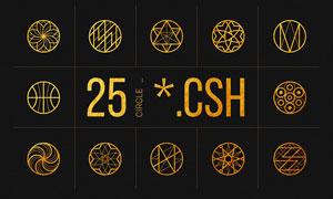 25款线性几何图形PS形状